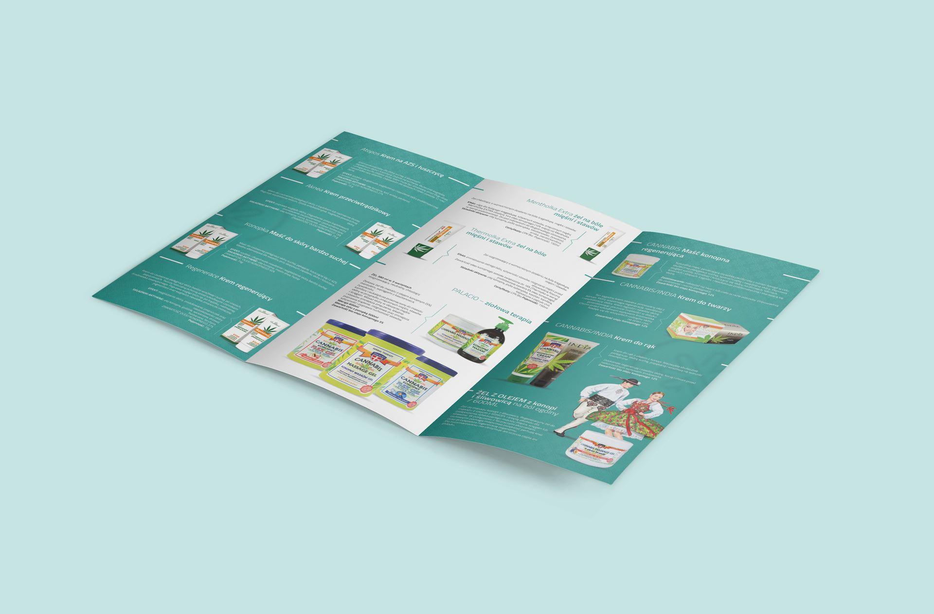 salonkonopny.pl 3 fold flyer mockup 03