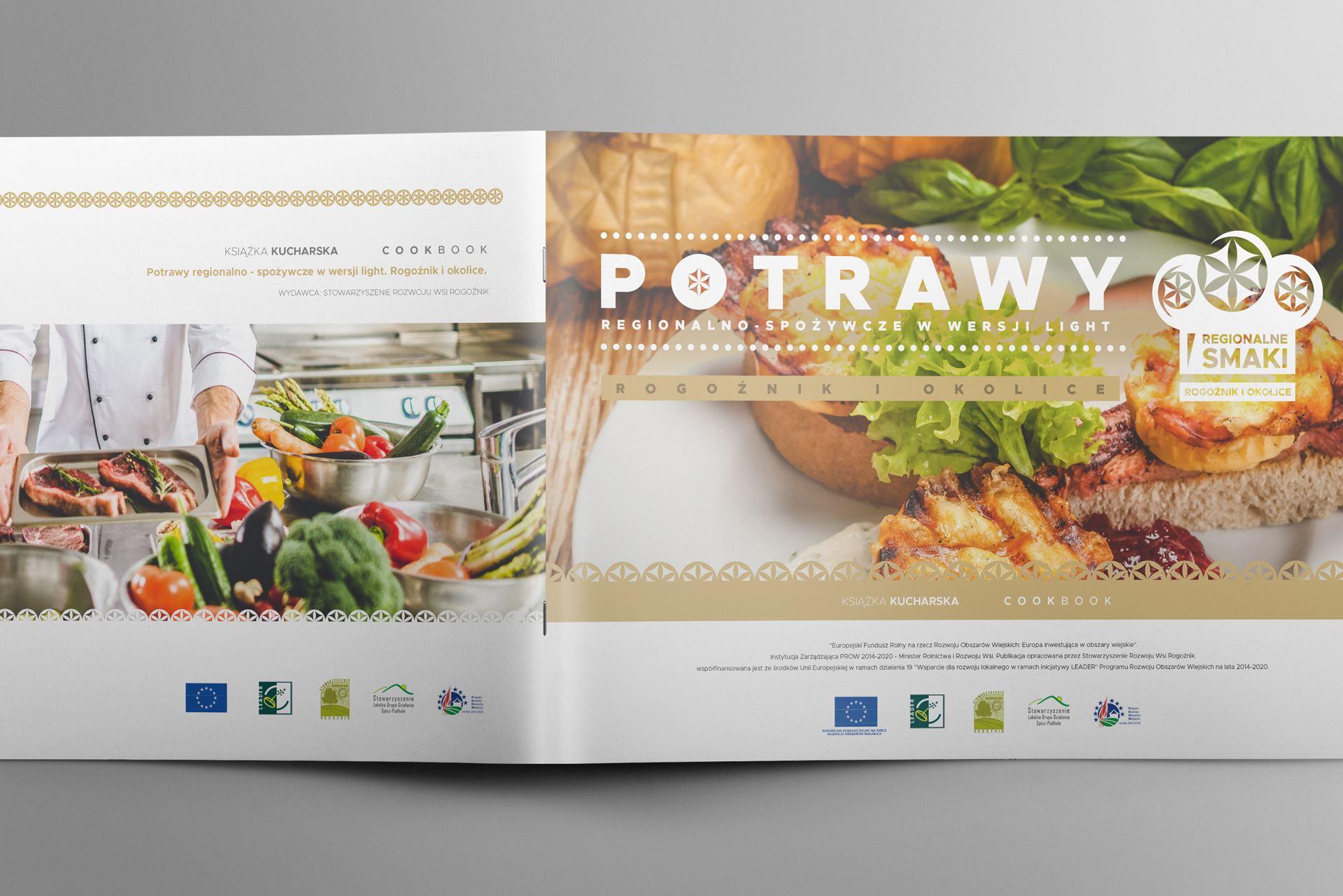 Regionalne smaki 05 landscape brochure mockup