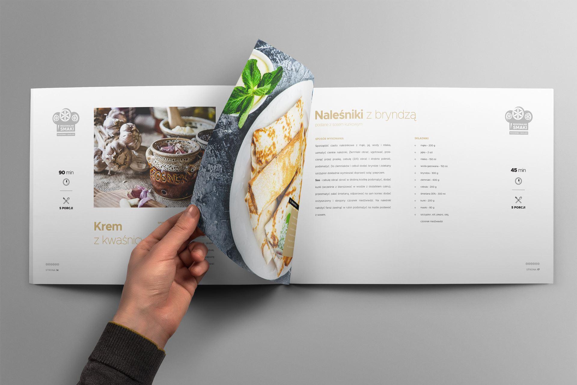 Regionalne smaki 09 landscape brochure mockup