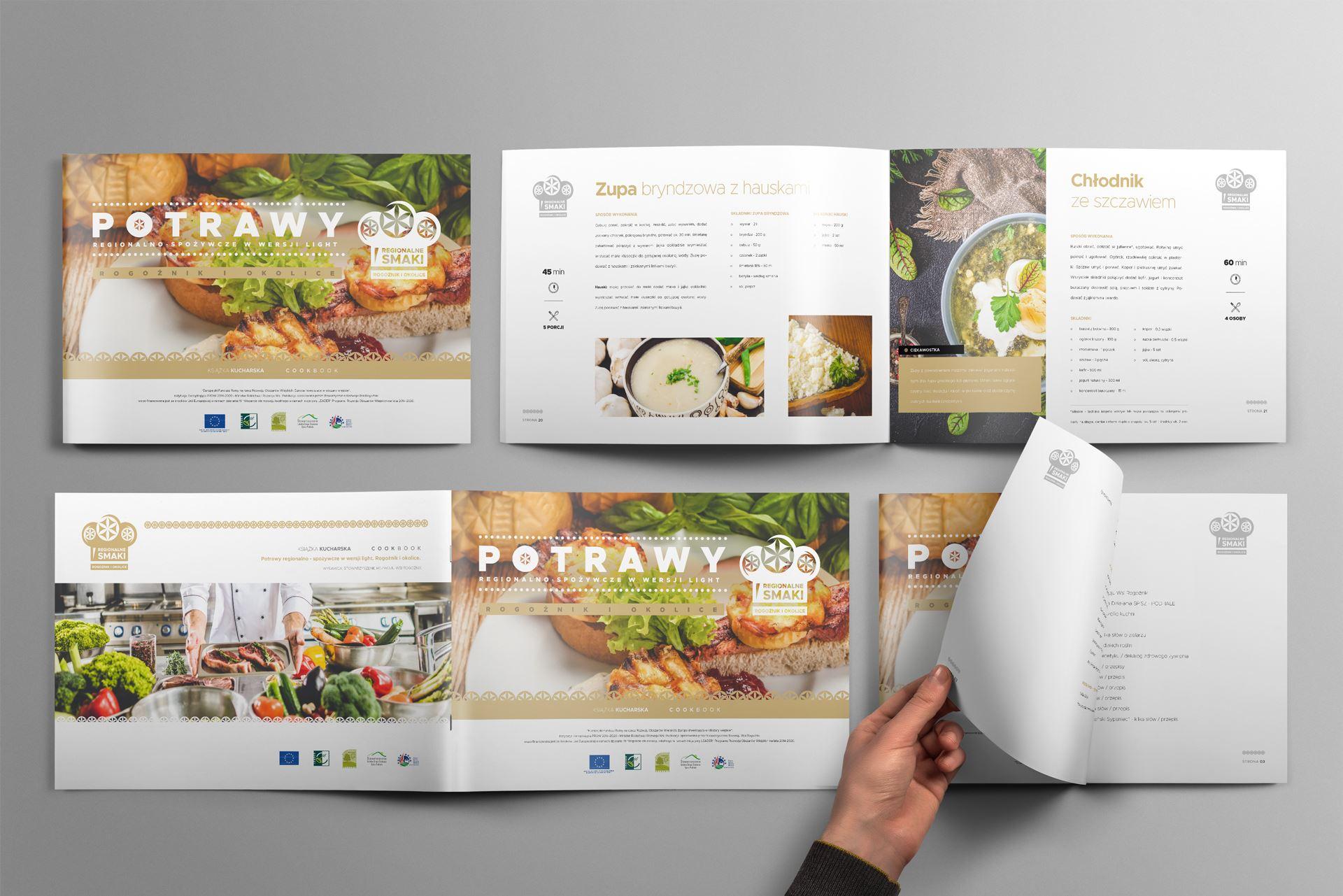 Regionalne smaki 13 landscape brochure mockup