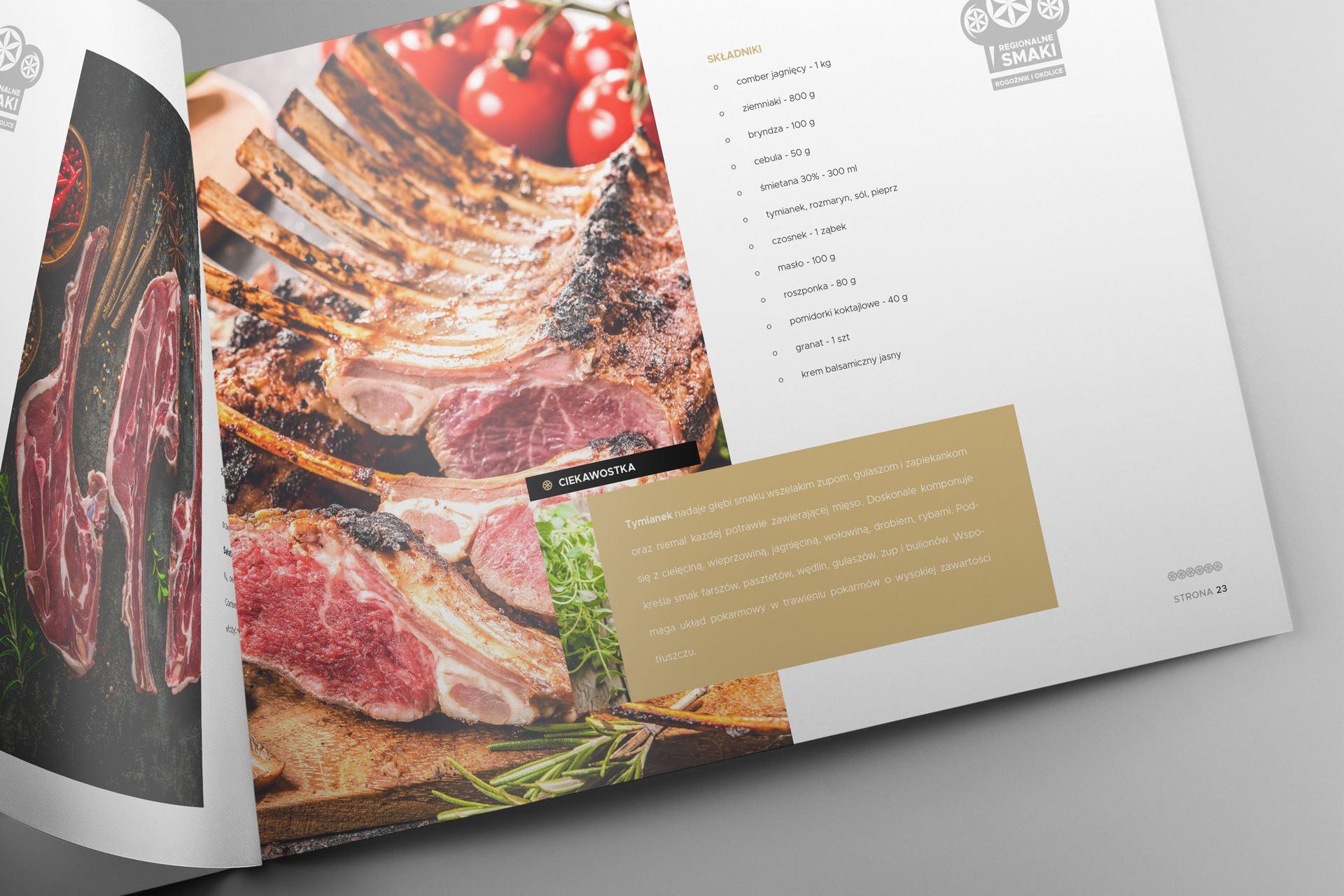 Regionalne smaki 14 landscape brochure mockup