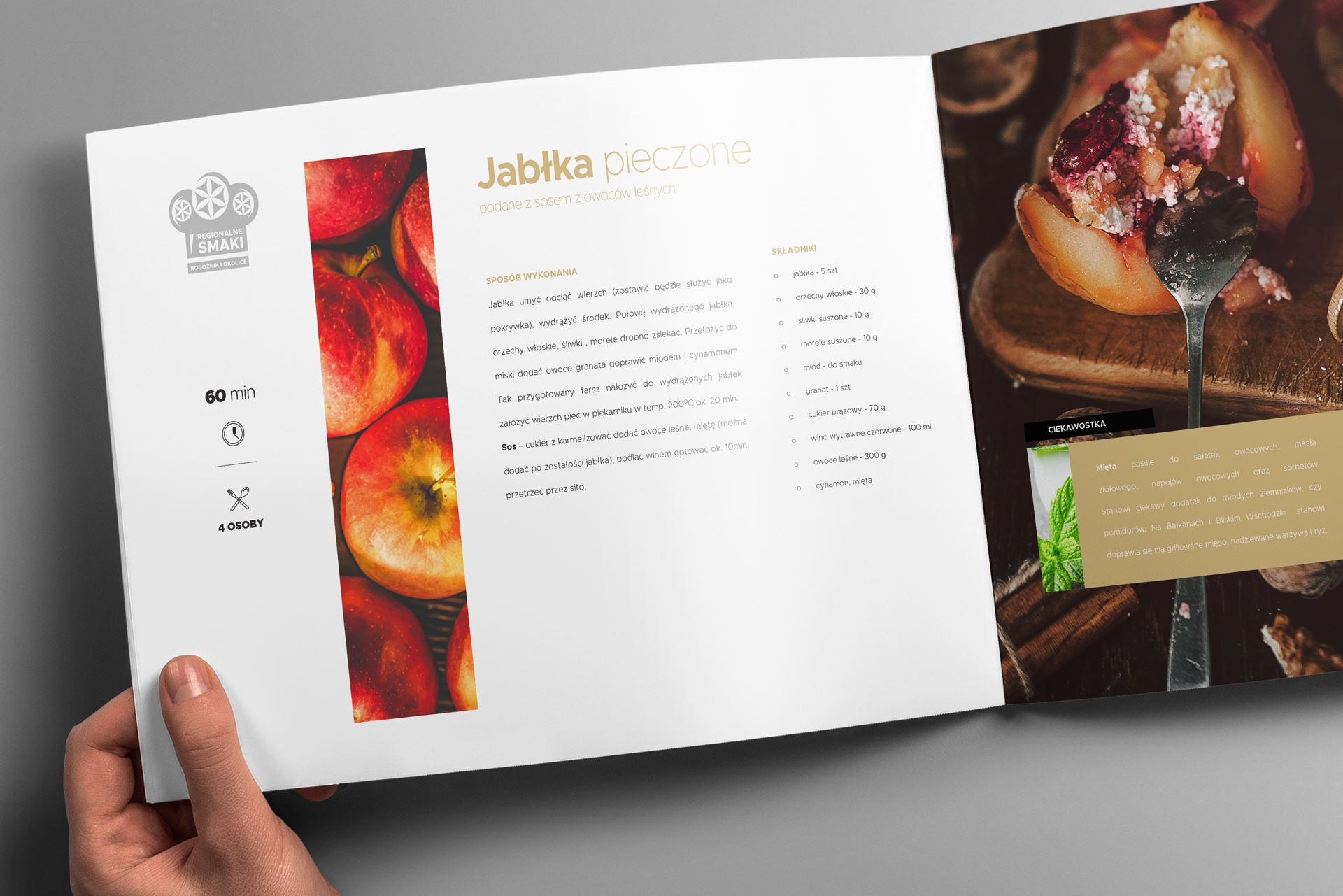 Regionalne smaki 15 landscape brochure mockup