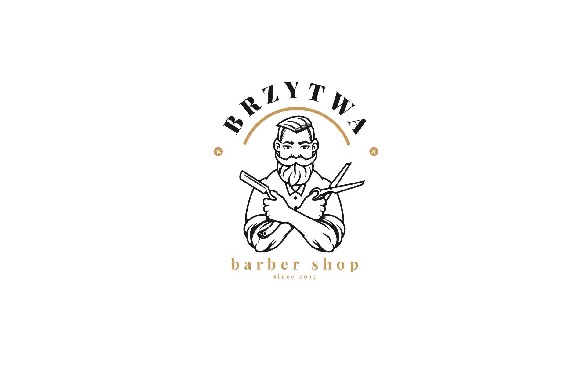 Brzytwa - barber shop barber logo 1