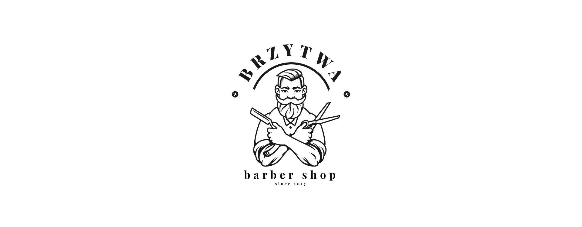 Brzytwa - barber shop barber logo2 1
