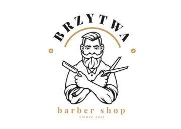 Brzytwa – barber shoplogo, identyfikacja wizualna, opakowania, broszura