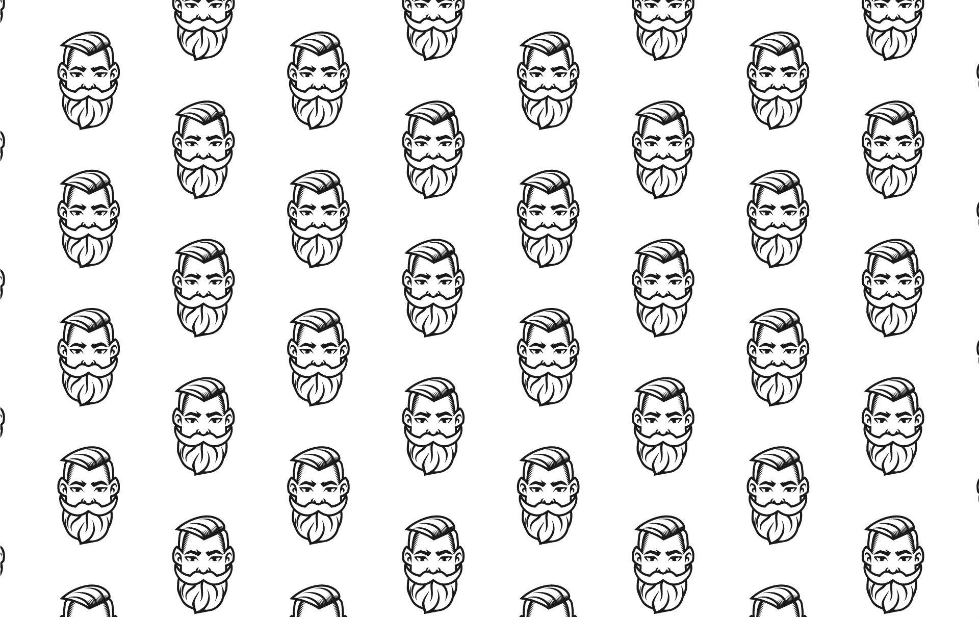 Brzytwa - barber shop pattern 1