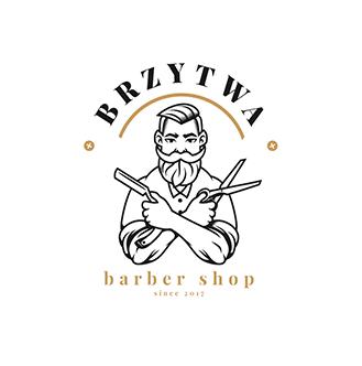 Projektowanie Logo dla Hotelu, Restauracji i Firm. Nowy Targ barber logo
