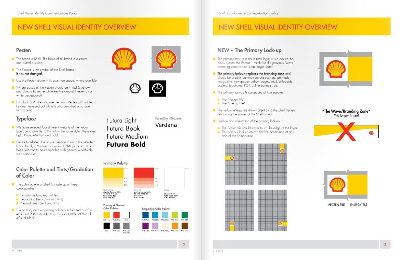 Fragment identyfikacji wizualnej marki Shell