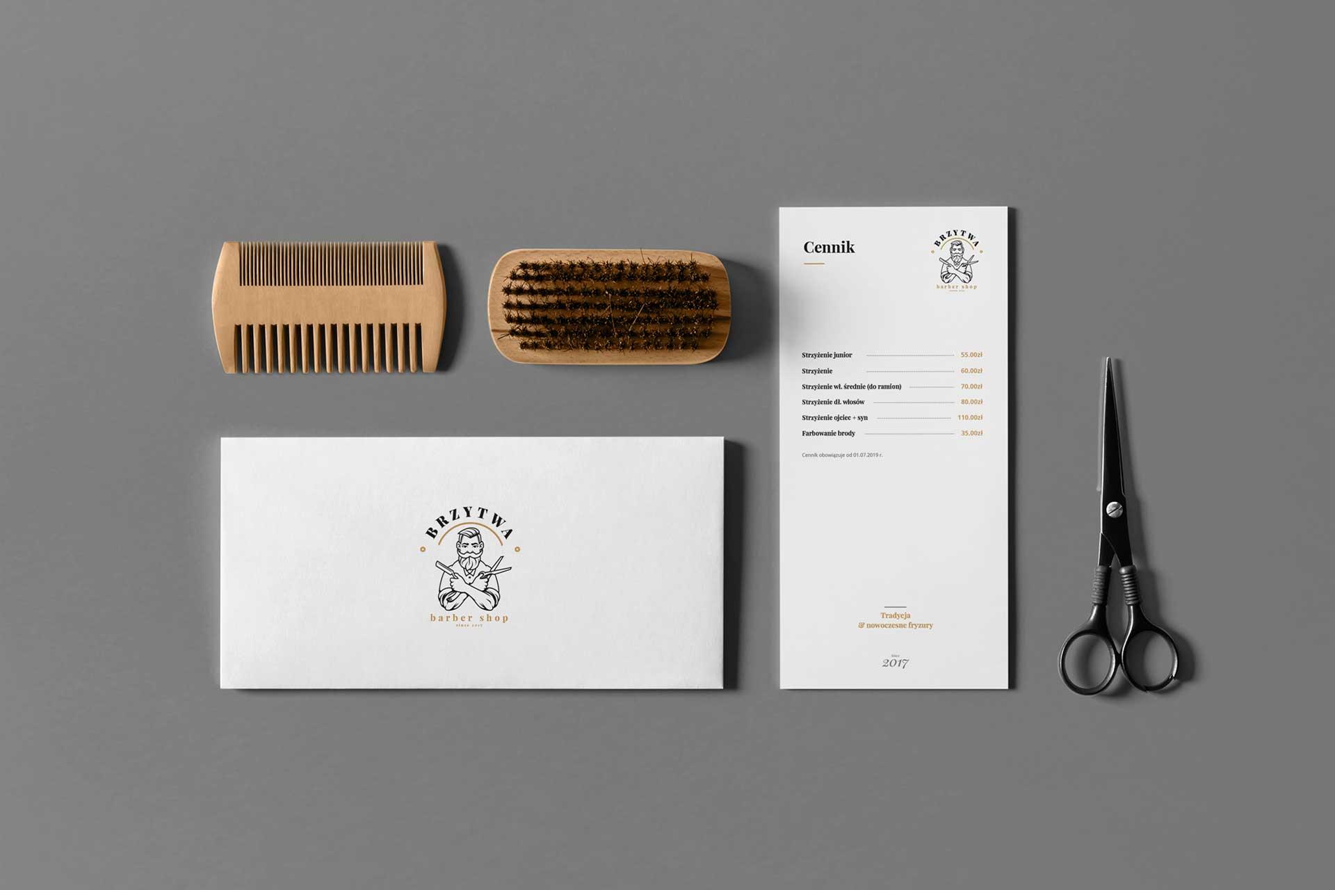 Identyfikacja wizualna w Cobance Studio - case study Brzytwa BarberShop identyfikacja wizualna barber 2