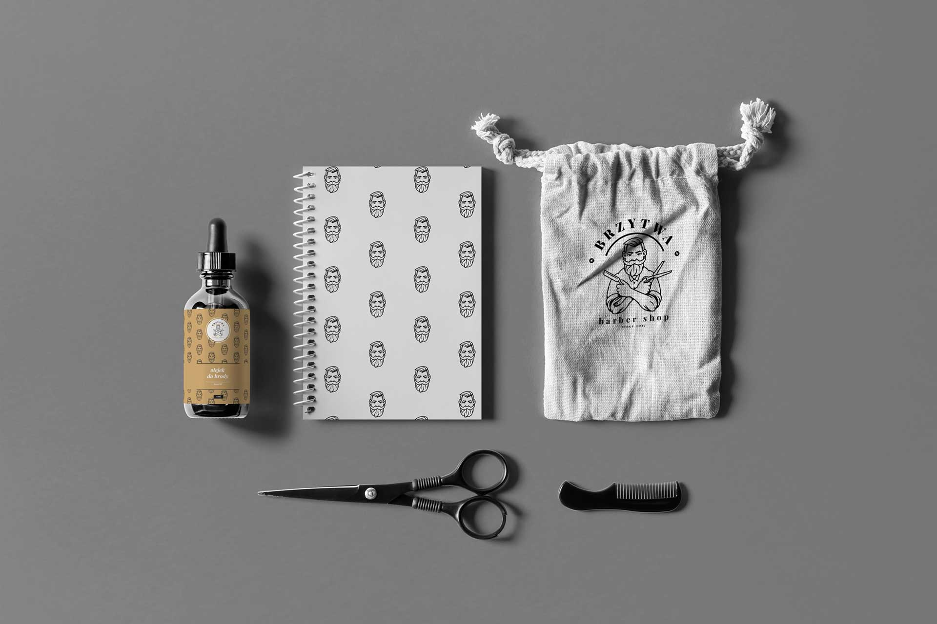 Identyfikacja wizualna w Cobance Studio - case study Brzytwa BarberShop identyfikacja wizualna barber 3