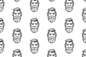 Identyfikacja wizualna w Cobance Studio - case study Brzytwa BarberShop pattern barber 300x200
