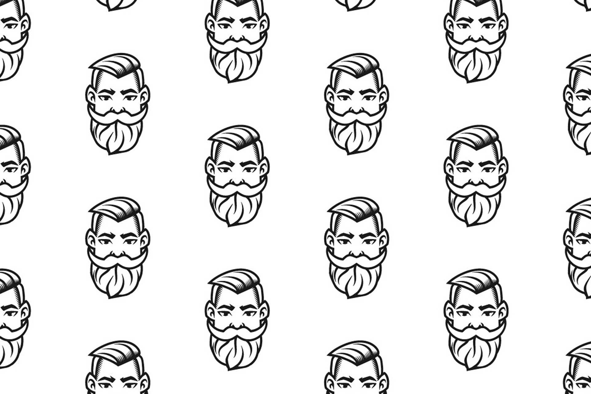 Identyfikacja wizualna w Cobance Studio - case study Brzytwa BarberShop pattern barber