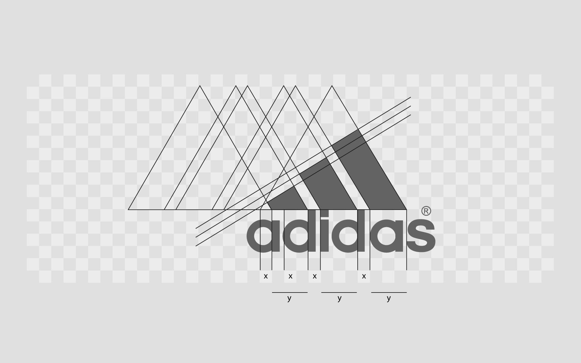 Projektowanie logo firmy - żelazne zasady dobrego logo. struktura logo adidas