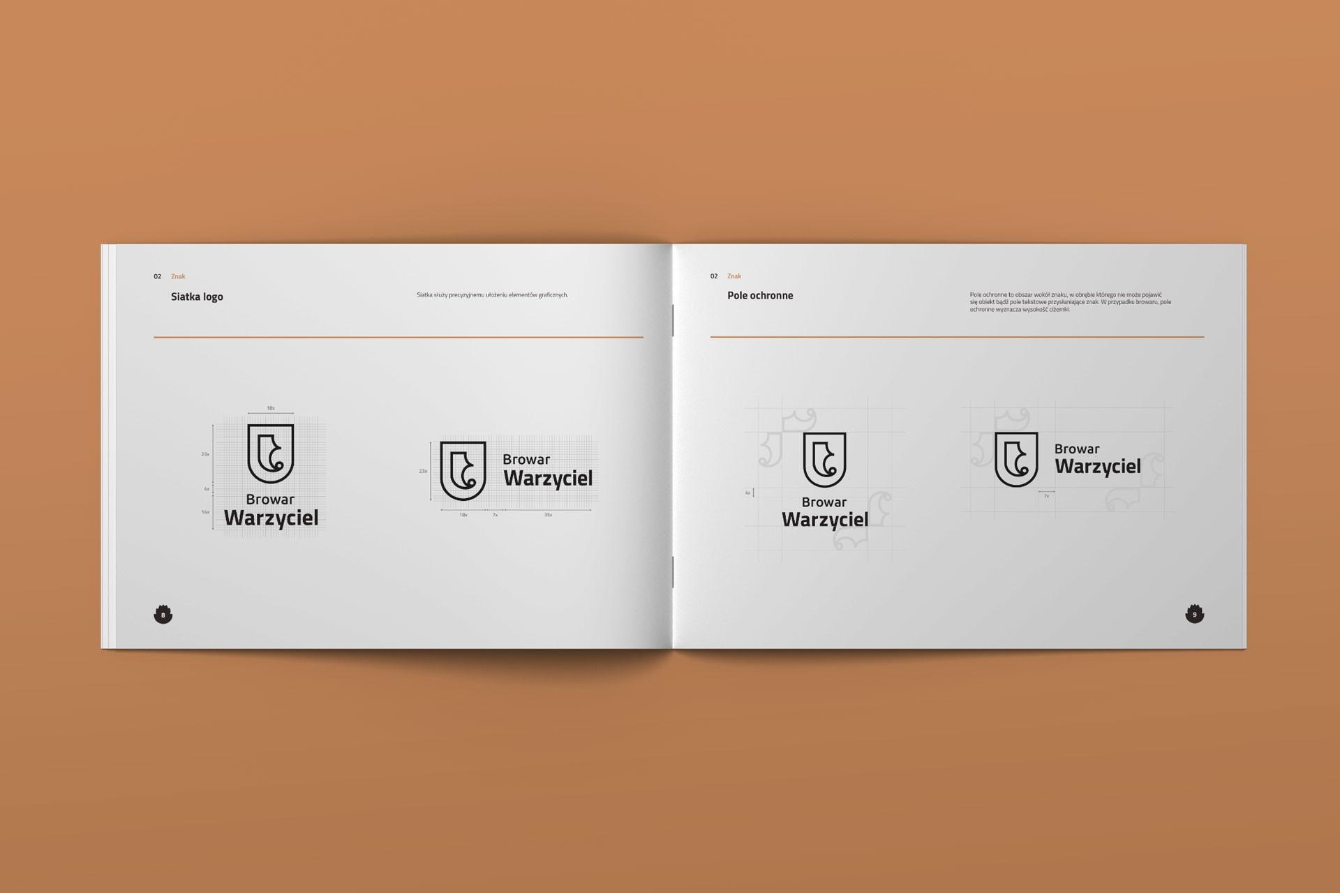 Proces projektowania logo brandbook warzyciel browar 3