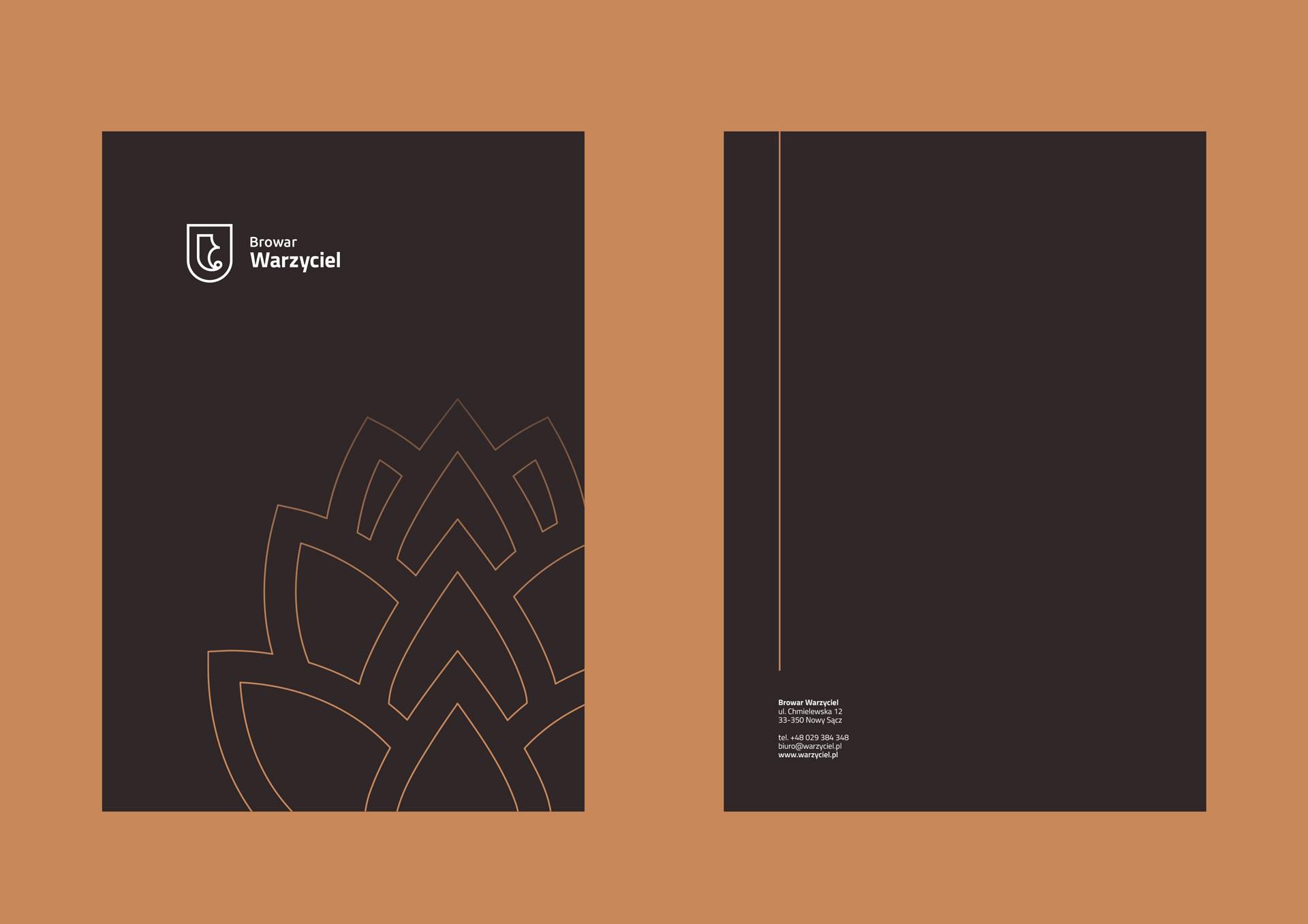 Proces projektowania logo browar warzyciel teczka