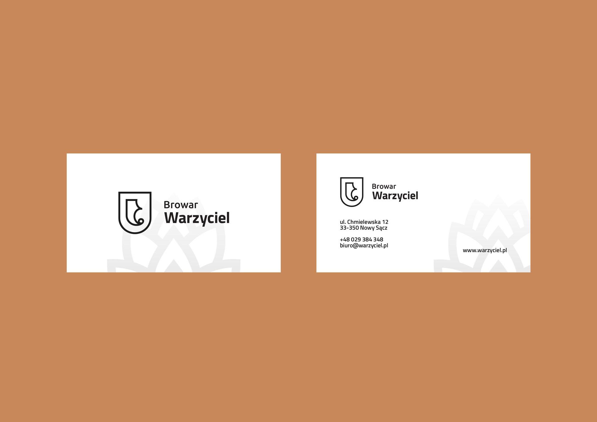 Proces projektowania logo browar warzyciel wizytowka